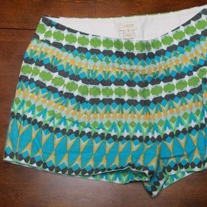 J. Crew Factory patterned chino shorts, size 4